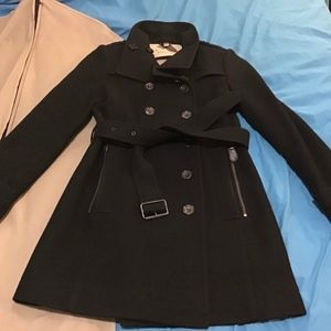 AUTHENTIC BURBERRY BRIT WOOL PEACOAT COAT SIZE 8